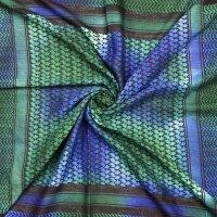 Palituch - Tie dye - Batik schwarz - bunt 02 - Kufiya PLO Tuch