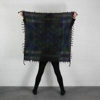 Kufiya - Stars large & small black - Tie dye-Batik-multicolored 02 -Shemagh - Arafat scarf