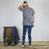 Leggings - Batik - Bamboo - blau - braun