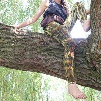 Leggings - Batik - Bamboo - grün-gelbgrün