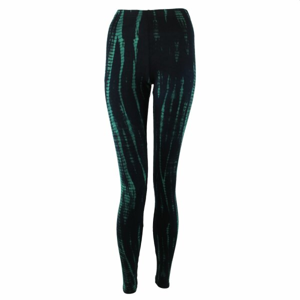 Leggings - Batik - Bamboo - black - blue-petrol