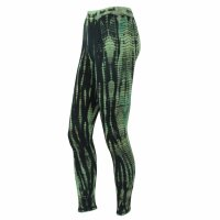 Leggings - Batik - Bamboo - black - green-khaki