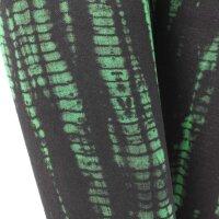 Leggings - Batik - Bamboo - schwarz - grün-waldgrün