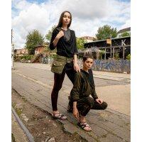 Leggings - Batik - Bamboo - schwarz - rot-kirschrot
