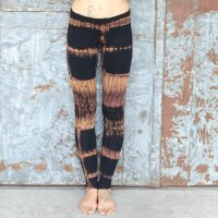 Leggings - Batik - Birch - schwarz - braun-ockerbraun