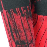 Leggings - Batik - Birch - schwarz - rot-kirschrot
