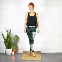 Leggings - Batik - Blocks - schwarz - grün-dunkelgrün