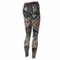 Leggings - Batik - Diamond - braun - schwarz - weiß