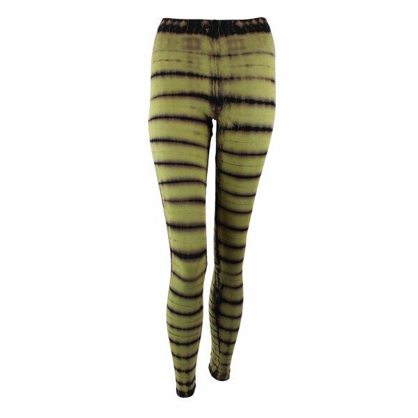 Leggings - Batik - Haze - schwarz - grün-birkengrün