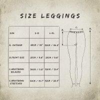 Leggings - Batik - Landscape - schwarz - lila