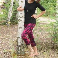 Leggings - Batik - Landscape - black - pink