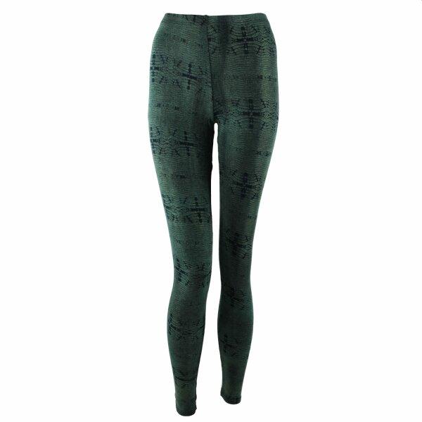 Leggings - Batik - Reptiles - black - green-forest green