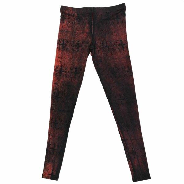 Leggings - Batik - Reptile - schwarz - rot-burgund