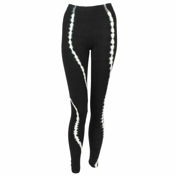 Leggings - Batik - Snake - black - white