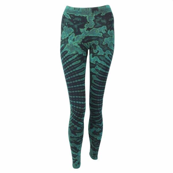 Leggings - Batik - Sun - schwarz - grün-blau