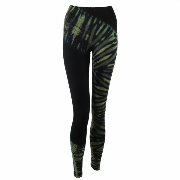 Leggings - Batik - Tread - black - green- olive green