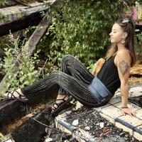 Leggings - Batik - Rain - schwarz - braun-beige