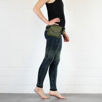 Leggings - Batik - Rain - black - green-khaki