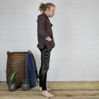 Leggings - Batik - Leaf - schwarz - braun