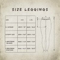 Leggings - Batik - Leaf - schwarz - bunt