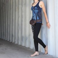 Leggings - Batik - Leaf - schwarz - blau - braun