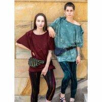 Leggings - Batik - Bamboo - schwarz - grün-blau