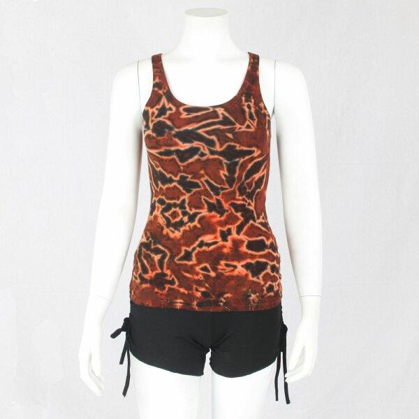Top - ärmellos - Tie Dye - Jersey - Lava