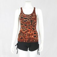 Top - sleeveless - Tie Dye - Jersey - Lava