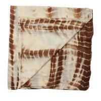 Baumwolltuch - Bamboo - braun tie dye - quadratisches Tuch