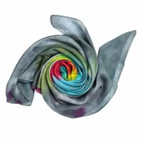 Cotton Scarf - Rainbow Spiral - tie dye - squared kerchief