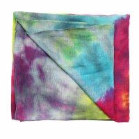 Baumwolltuch - Rainbow Spiral - tie dye - quadratisches Tuch