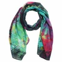 Shawl - Bamboo - colorful tie dye - 40x140 cm
