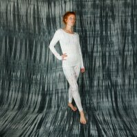 Leggings - Batik - Bamboo - cream - pastel coloured