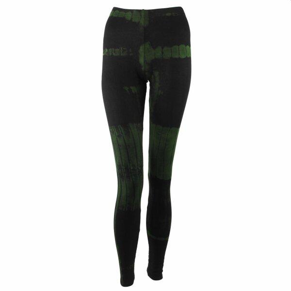 Leggings - Batik - Birch - black - green-olive green