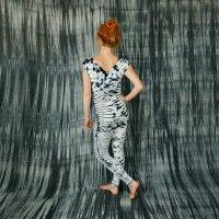 Leggings - Batik - Sun - cream - black-grey