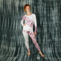 Leggings - Batik - Tread - creme - braun-bordeaux