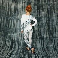 Leggings - Batik - Tread - creme - schwarz-grau