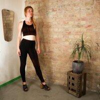 Leggings - Batik - Rain - schwarz -rot-zinnoberrot