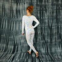 Leggings - Batik - Allover - creme - pastell-bunt