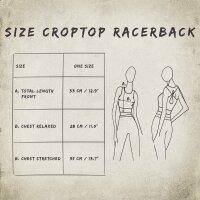 Crop Top - Racerback - Batik - Allover- verschiedene Farben