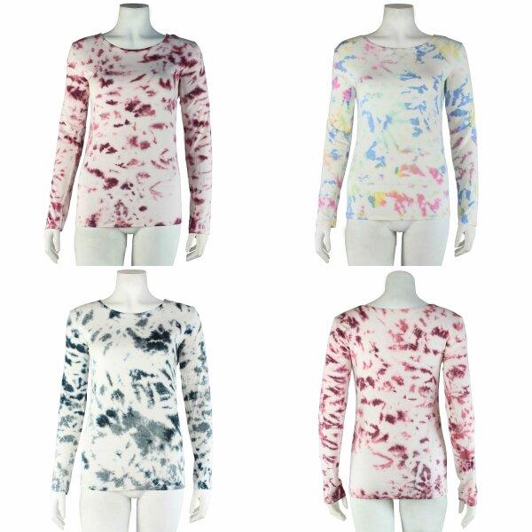 Longsleeve - Batik - Tie dye - Allover - verschiedene Farben