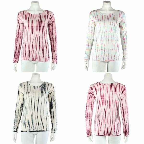 Longsleeve - Batik - Tie dye - Bamboo - verschiedene Farben