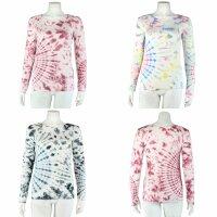 Longsleeve - Batik - Tie dye - Sun - verschiedene Farben