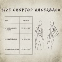 Crop Top - Racerback - Batik - Rain - verschiedene Farben