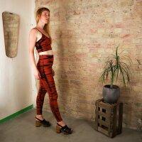 Leggings - Batik - Haze - schwarz - rot-zinnoberrot