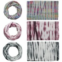 Loop Scarf - Tube Scarf - Batik - Bamboo - different colours