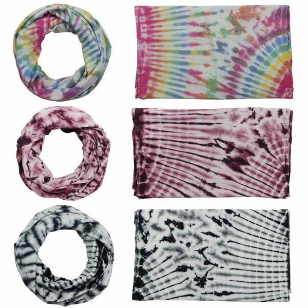 Loop Scarf - Tube Scarf - Batik - Sun - different colours