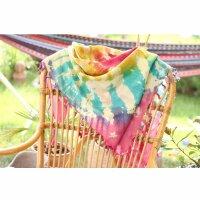 Kufiya - colourful-batik-tiedye 02 - Unicorn Sun - Shemagh - Arafat scarf