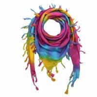 Kufiya - colourful-batik-tiedye 03 - Rainbow Spiral -...