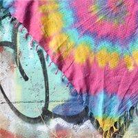 Palituch - bunt-batik-tiedye 03 - Rainbow Spiral - Kufiya Tuch Pali Halstuch